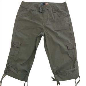 Beau cropped cargo pant with leg ties